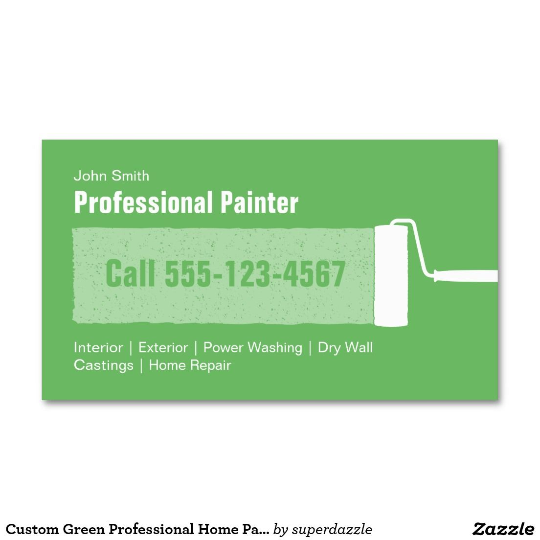 Custom Grey Professional Home Painting Business Card Template