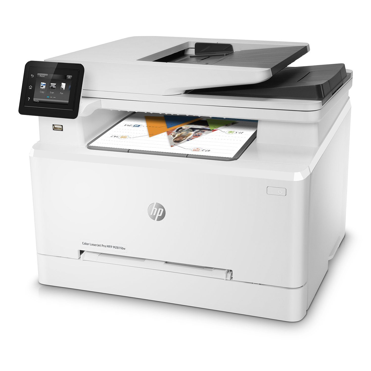 Amazon Com Hp Laserjet Pro M281fdw All In One Wireless Color Laser Printer Office Products