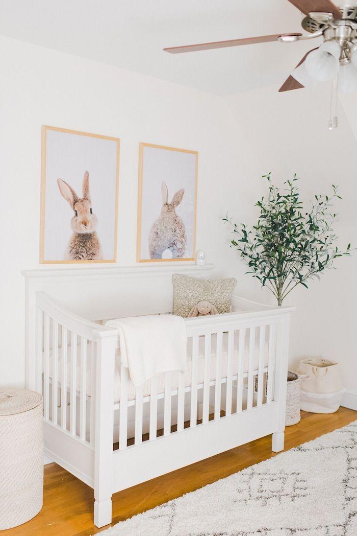 Neutral Baby Girl Nursery: Baby Girl Minimal Nursery Reveal In 2020