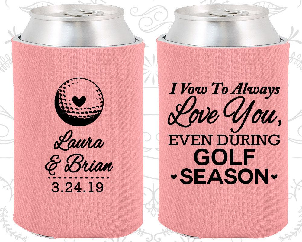 Pink Wedding, Pink Can Coolers, Pink Wedding Favors, Pink Wedding ...