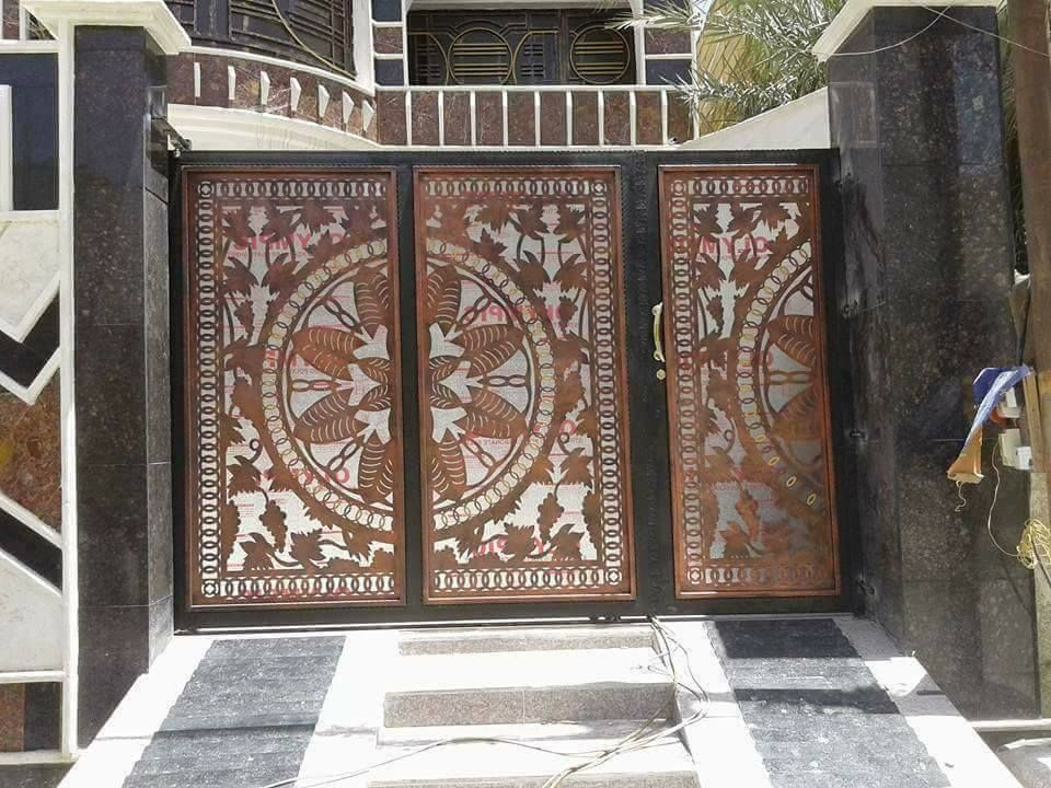 Door تنفيذ ابواب الحديد عادي زخرفه و ليزر الرياض 0530608113 Main Gate Design Gate Design Backyard Patio Designs