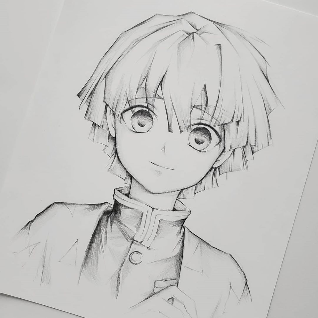 6 879 Likes 34 Comments Kaying Xiong Yiing Oo On Instagram Zenitsu Pencil Commission He S Anime Character Drawing Anime Sketch Manga Drawing Tutorials