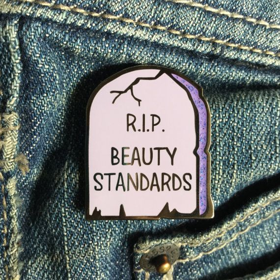 Feminist enamel pin / RIP beauty standards / Feminist lapel pin / Body positivity pin