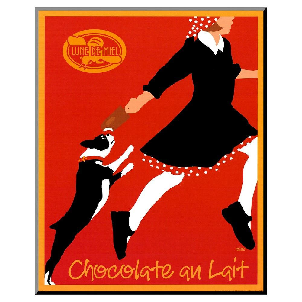 Chocolate au Lait by Johanna Kriesel, Mounted Print, Red