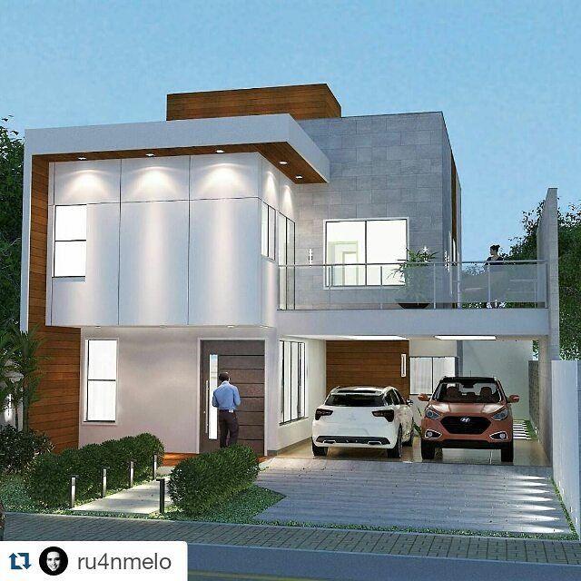 Proposta de fachada de uma residência de dois pavimentos. #architecture #vray #sketchup by ruanmeloarquitetura