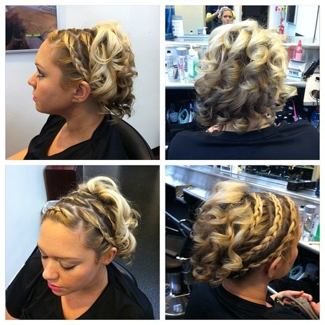 Awesome #braided #updo created by one of our students. #hair #blonde #hairstyle