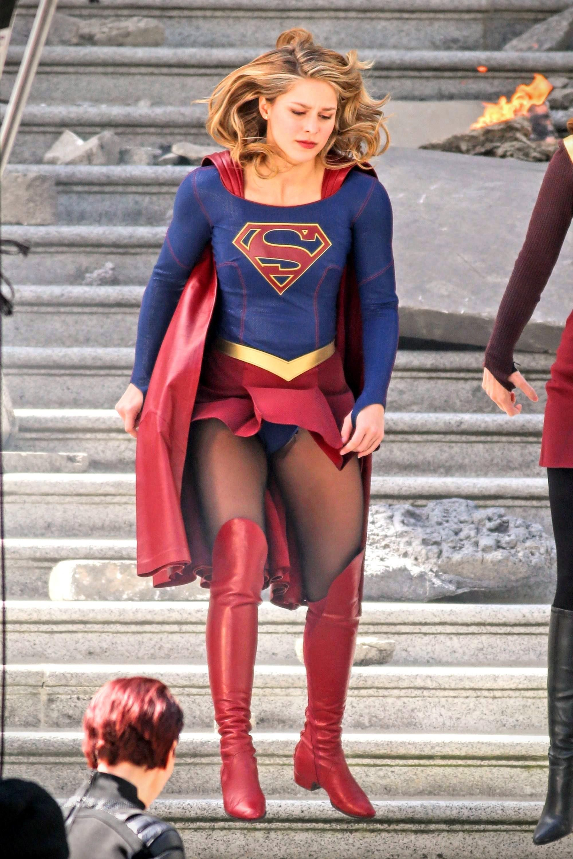 Melissa Benoist This Is What Happens When You Land Wearing A
