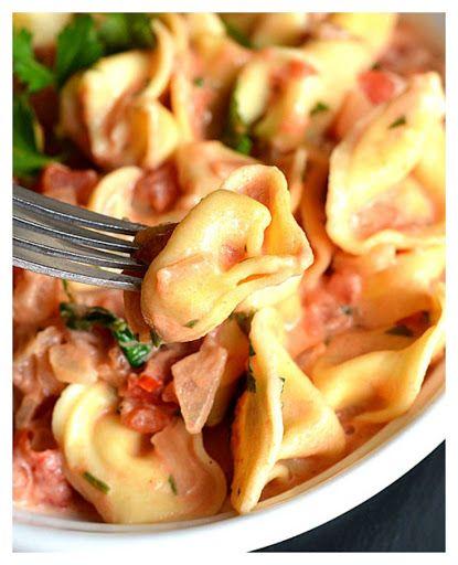 Tortellini with Tomato Cream Sauce #tomatocreamsauces