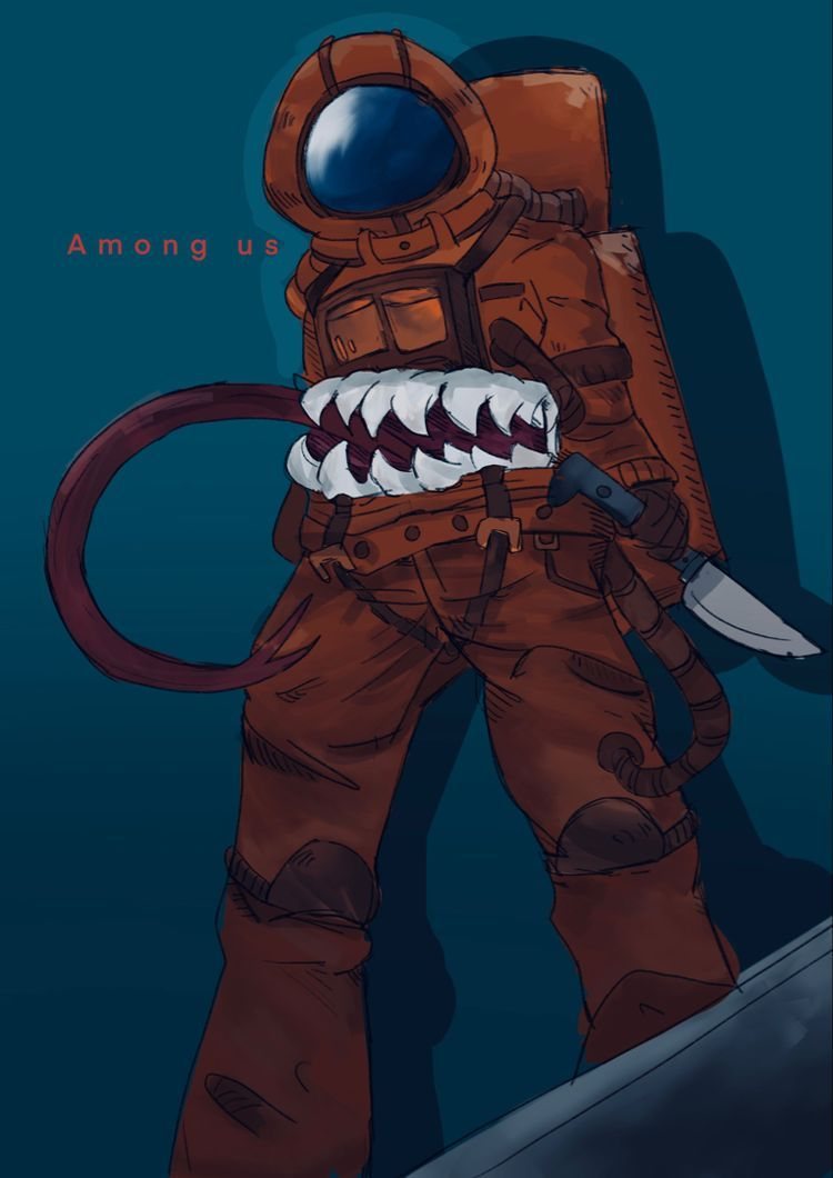 Brown Imposter Among Us Anime Cute Art Cool Artwork