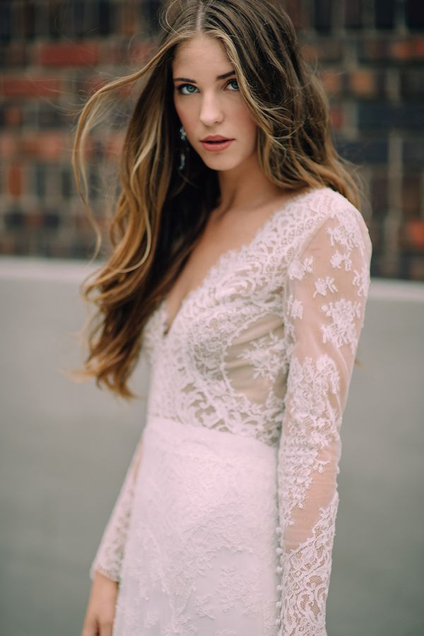Carolina Herrera Bride: Sarah Wragge in the Claudette
