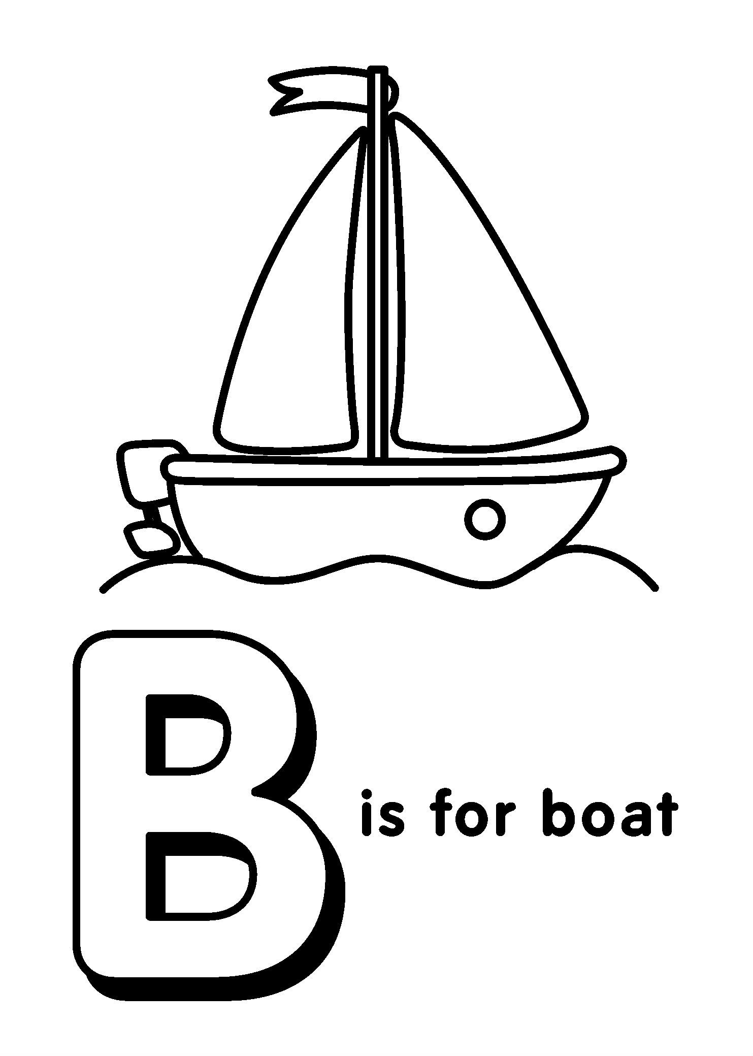 Funny Alphabet With Letters B