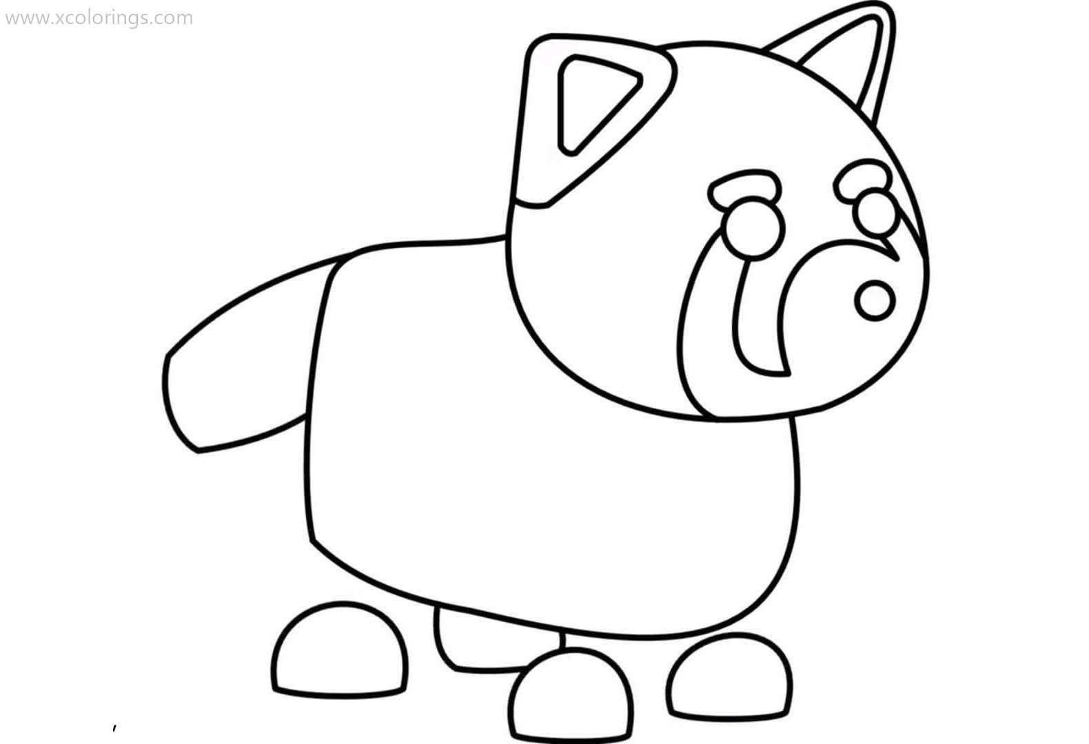 Roblox Adopt Me Coloring Pages Red Panda Coloring Pages Pets Drawing Disney Coloring Pages