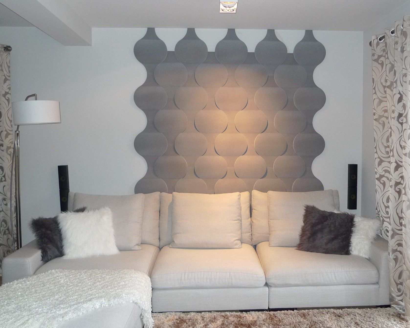 Modernes bungalow innenarchitektur wohnzimmer wohnideen wandgestaltung wohnzimmer  kreative wandgestaltung