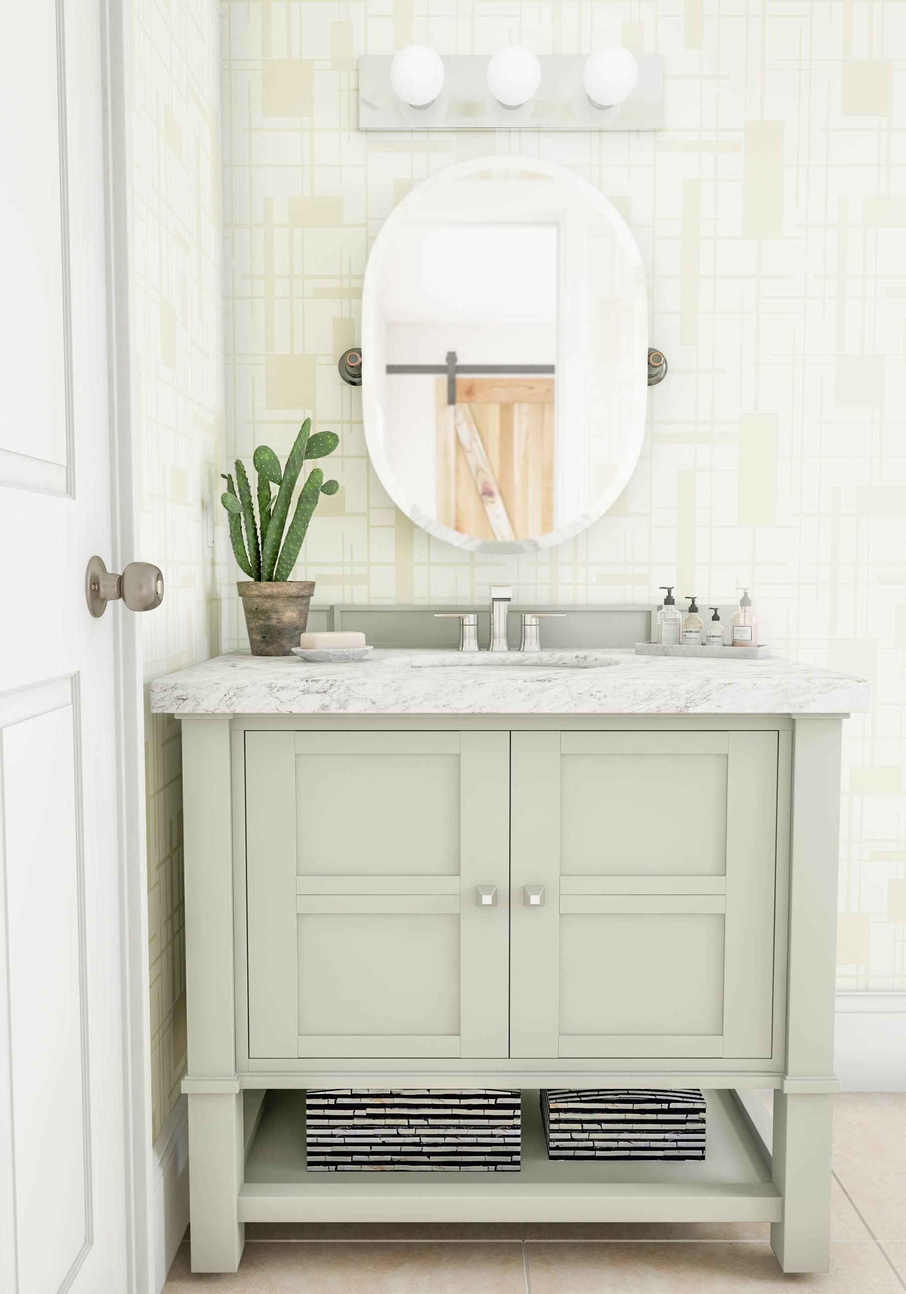 Scale to the size you really need This single sink vanity features