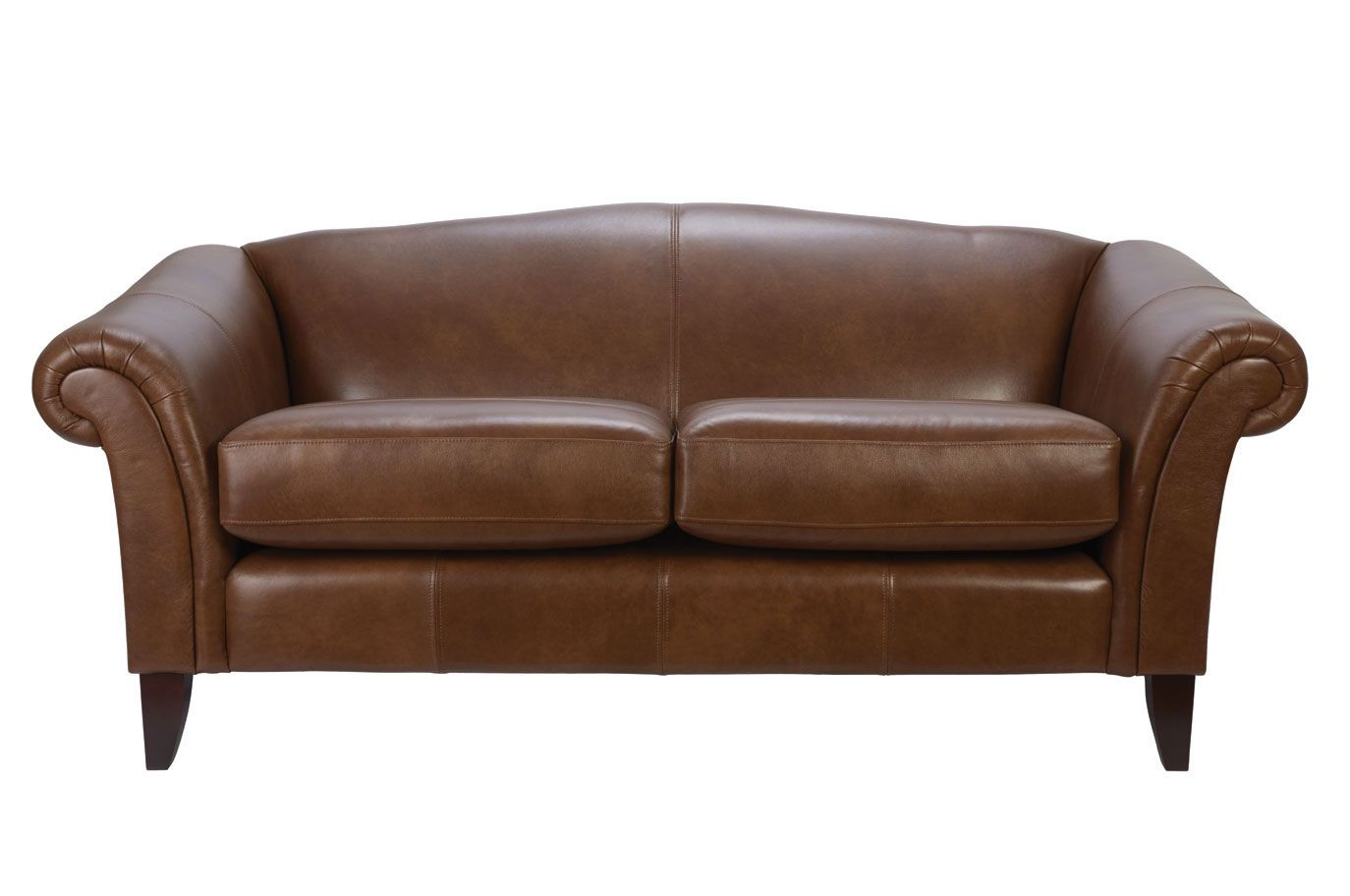 Embleton Large 2 Seater Laura Ashley In Leather Harvest