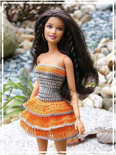 Pin Von Diana Castelijn Auf New Crochet Barbie Pinterest