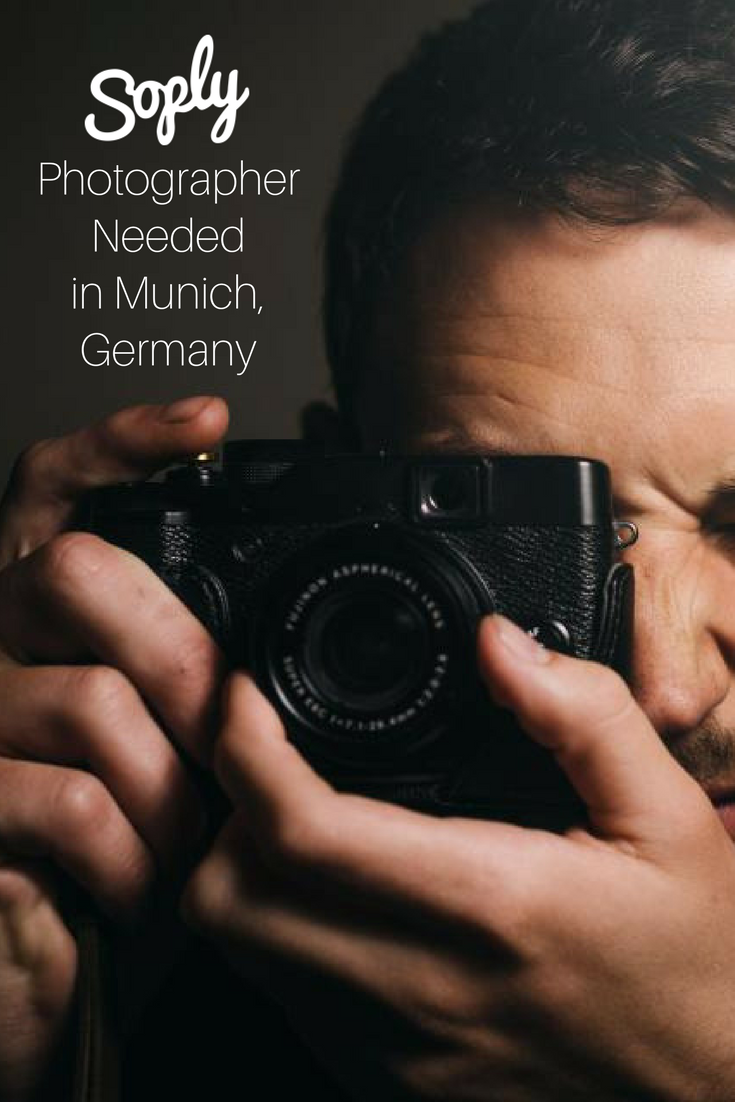 Photographer needed in Munich, Germany to take