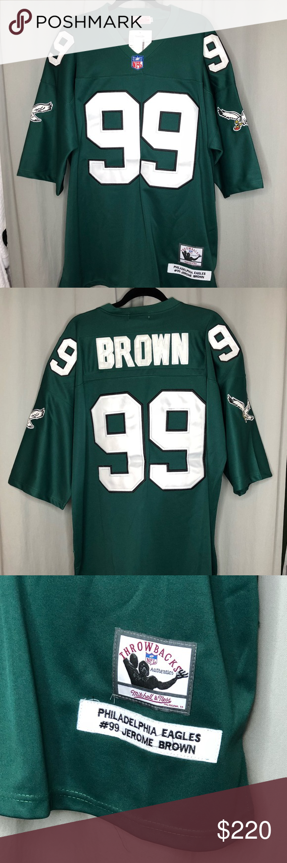 43d7c3b3a15 Authentic Throwback Eagles Jersey Jerome Brown #99 Authentic NFL Throwback  Eagles Jersey Jerome Brown #99 Looks and Smells Brand New ! Never Worn !