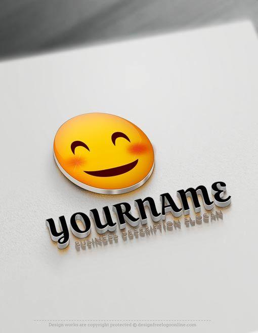create free happy face emoji logo with online logos maker