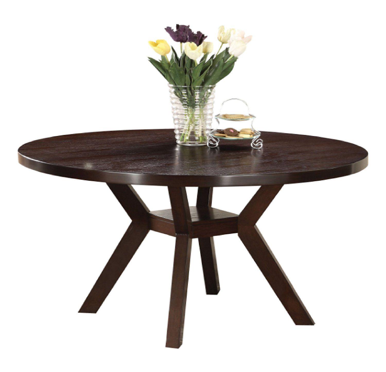 Amazoncom Acme 16250 Drake Espresso Round Dining Table 48 Inch