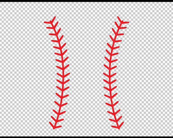 Baseball Stitches Vector Set Baseball Red Lace Isolated On Transparent Background Seam Baseball Ball Baseball Stitch Cartoon Clip Art Clip Art