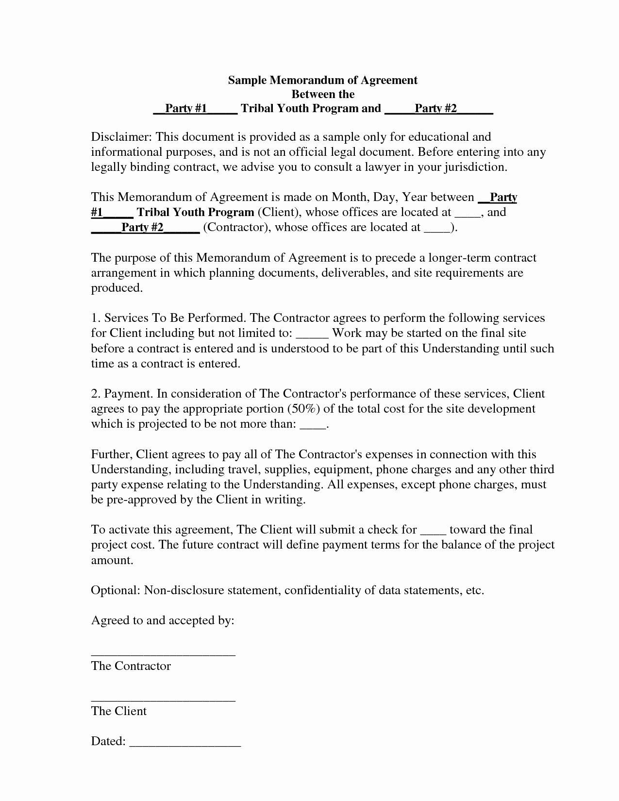 Memorandum Of Understanding Sample Elegant Best S Of Memorandum Agreement Sample Sample Memorandum Separation Agreement Template Agreement Quote Memorandum of understanding sample template