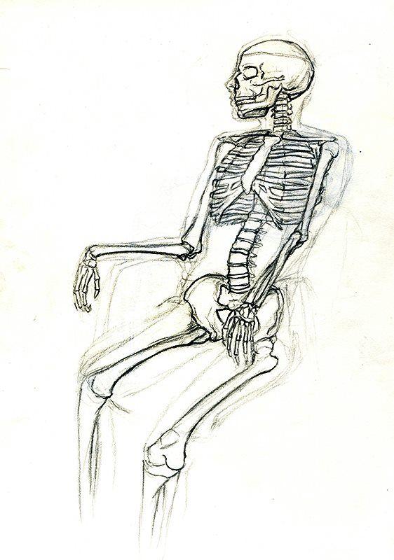 fail cat skeleton doodle - photo #27