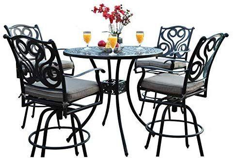 Amazon Com Cbm Outdoor Patio Furniture 5 Piece Aluminum 48 Bar