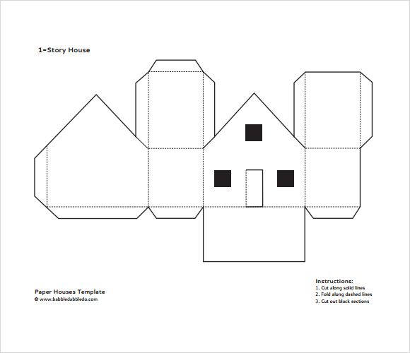 Paper House Printable Template  GoogleSk  Zima