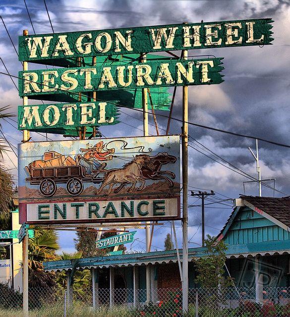 The old Wagon Wheel Restaurant Motel in Oxnard, CA  (torn down now)