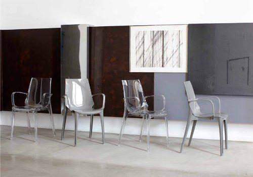 4 Polycarbonate Scab Vanity Chaises Transparent Moderne Design 2654 3Ac4jSq5RL