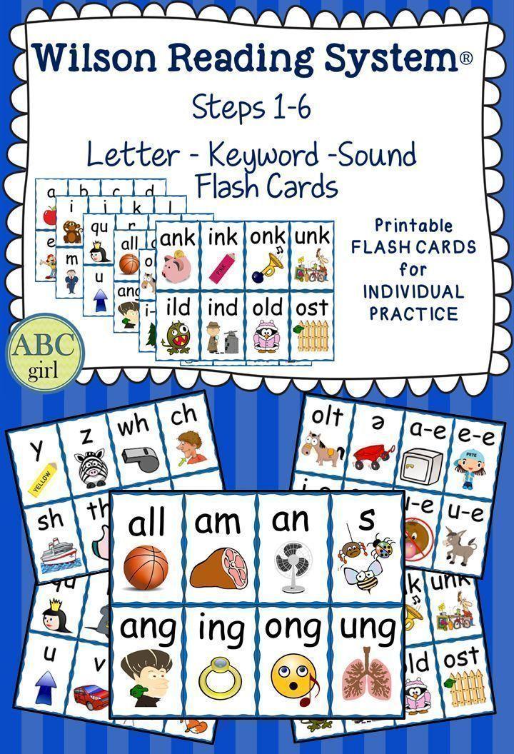 Reading System Steps 1-6 Letter Keyword Sound Flash Cards