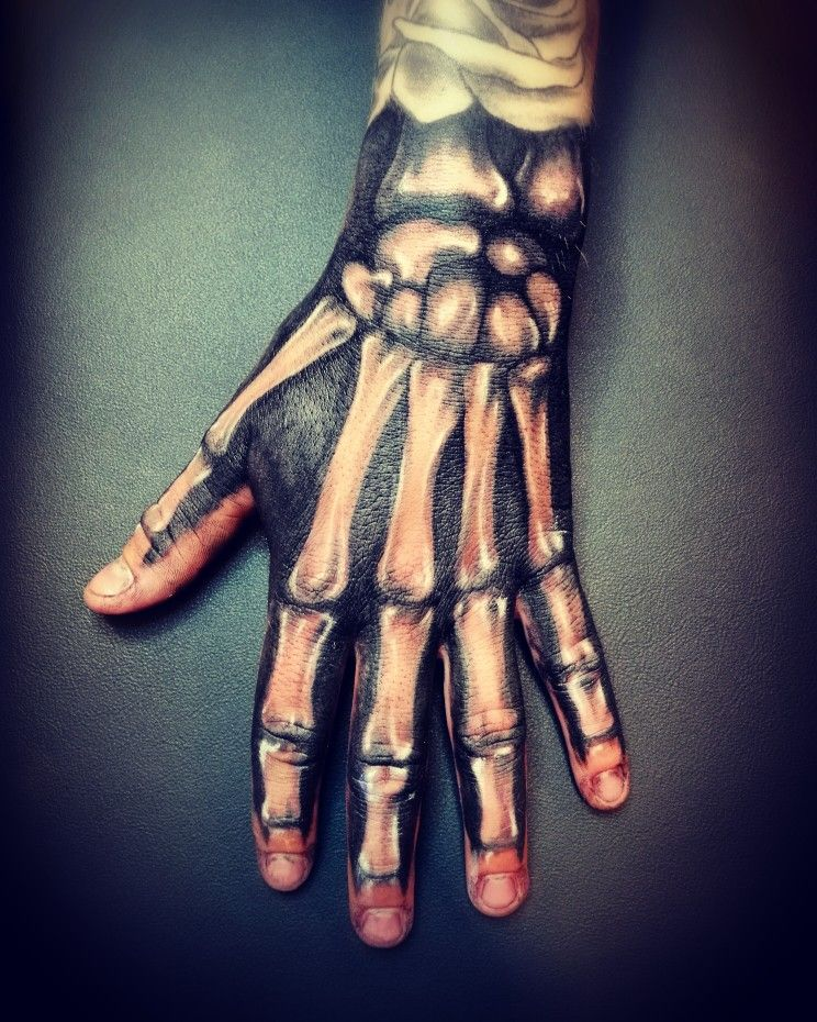 Skeleton Hand Tattoo Design Blackartemtattoo Products I Want