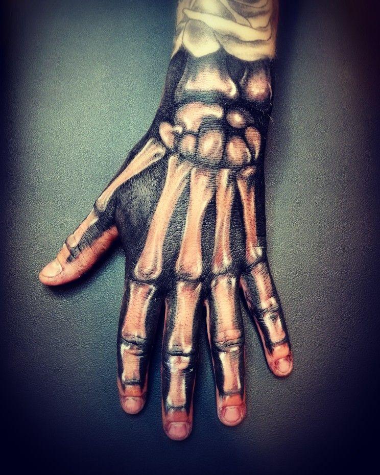 Skeleton Tattoo On Hand : skeleton, tattoo, Skeleton, #hand, #tattoo, #design, #blackartemtattoo, Tattoo,, Tattoos,, Tattoos