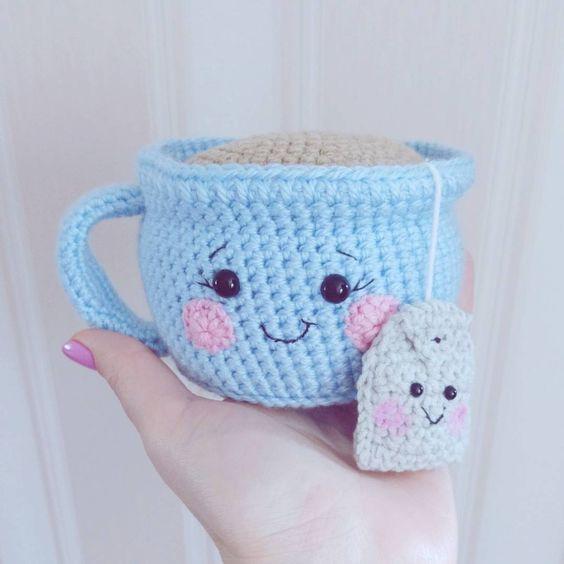 FREE Tea/ Teabag/ Drink/ Cup amigurumi pattern (Crochet) - Pinned by ...