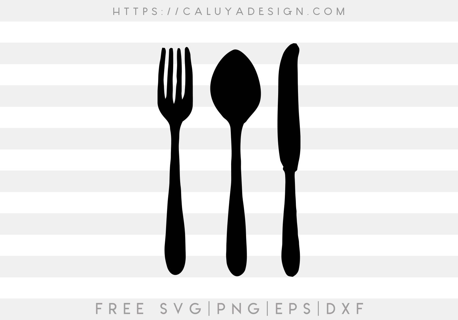 Free Cutlery Set Svg Eps Amp Dxf By Caluya Design In