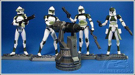 Star Wars Clone Wars Anti-Hailfire Droid Squad battle pack clone trooper loose