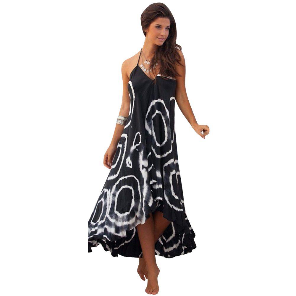 Dress womens party dress boho new summer beach long dresses