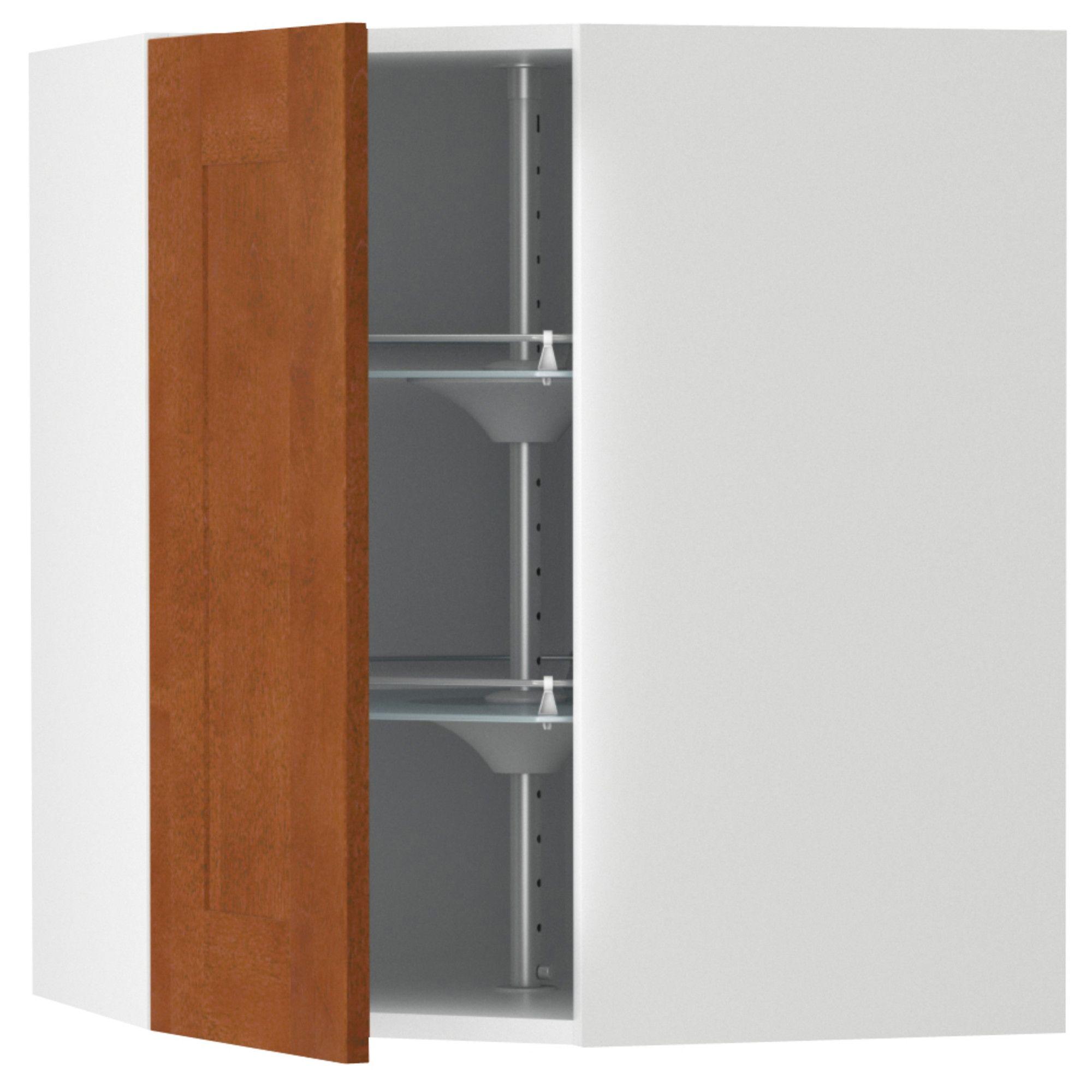 AKURUM Corner wall cabinet with carousel - birch effect, Ädel medium ...