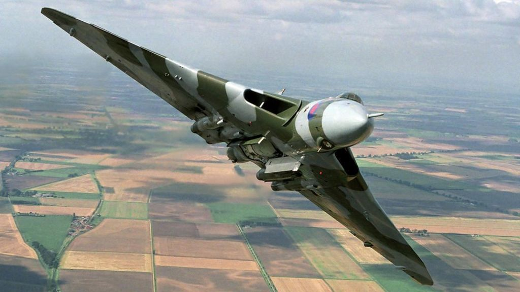 The UK's last flying airworthy Vulcan bomber takes to the skies for a final flypast before retirement.