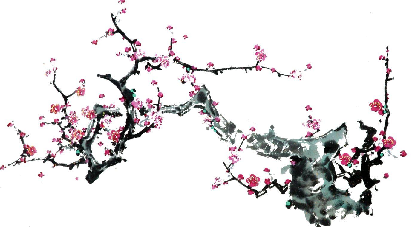 リアルタッチな花のイラスト フリー素材 No 1031 梅の花 枝 赤 和風 花 イラスト 梅の花 イラスト 梅の花