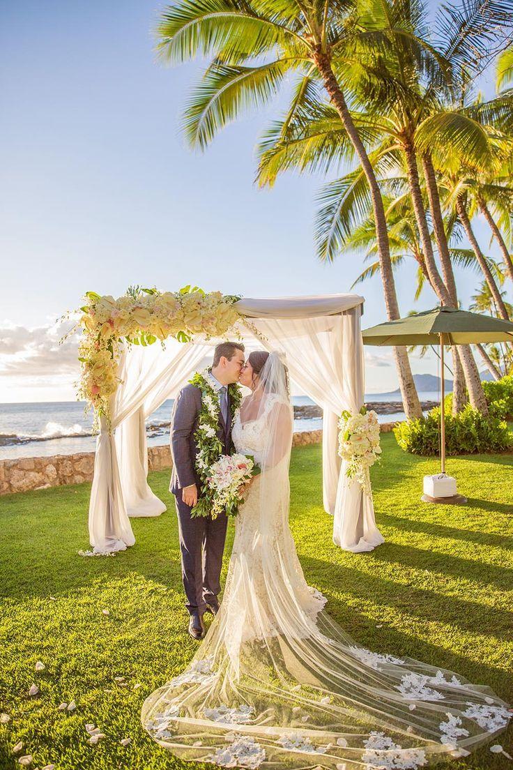 Stunning Wedding Portrait At Lanikuhonua At Disney Aulani Aulani Wedding Beautiful Beach Wedding Disney Wedding