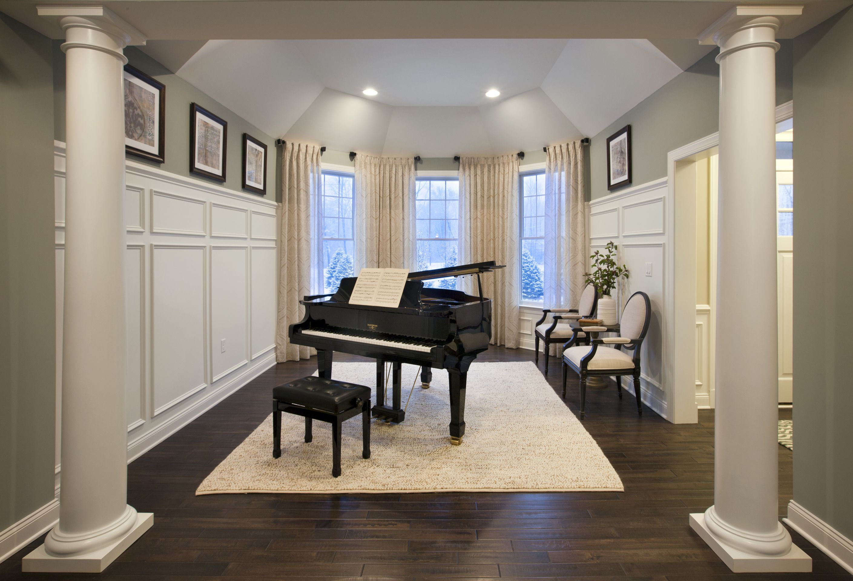 Music Room Estates At Cohasset By Toll Brothers Interior Design By Mary Cook Associates