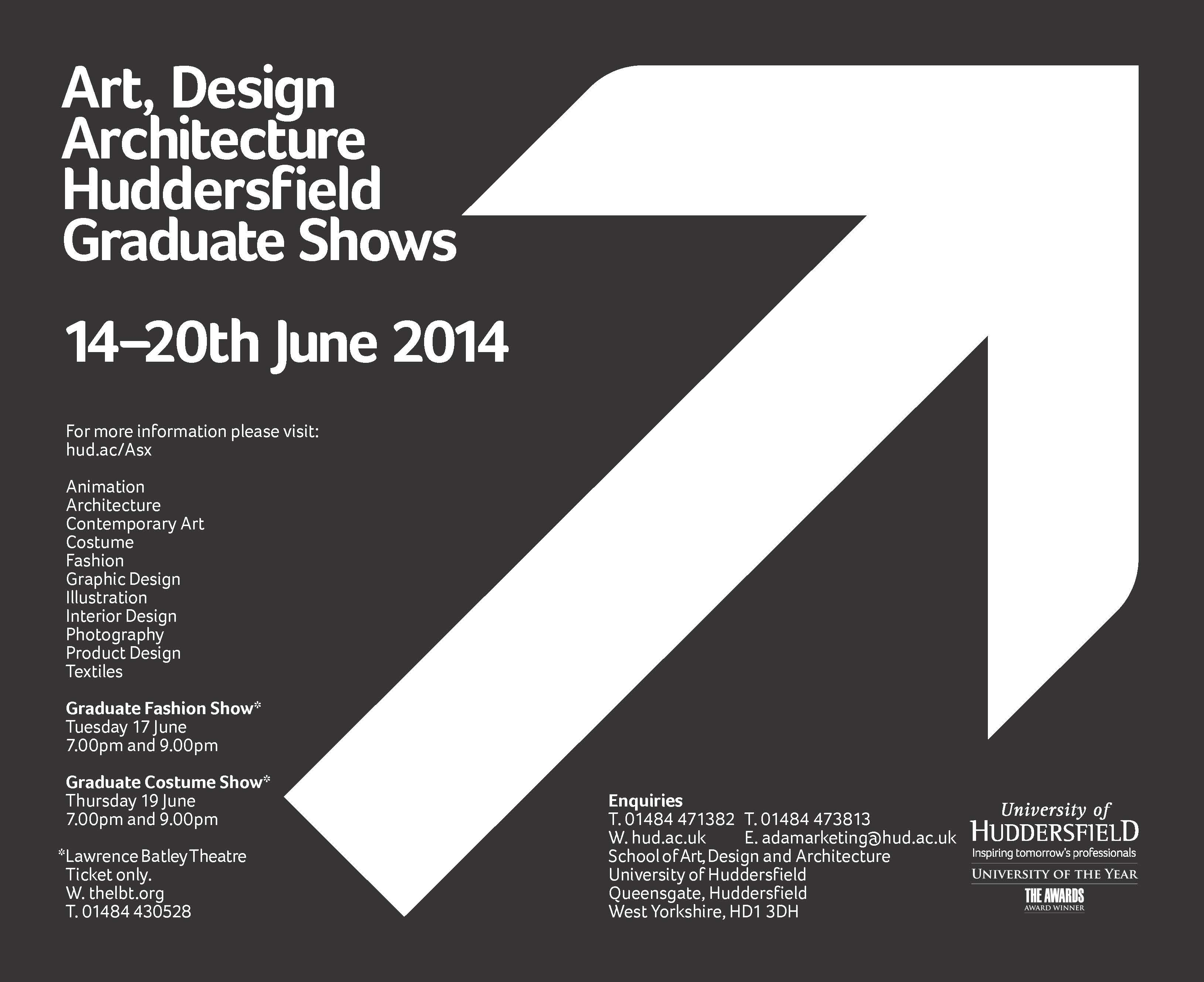 Summer Show University Of Huddersfield June 14 20 2014 With Animation Architecture