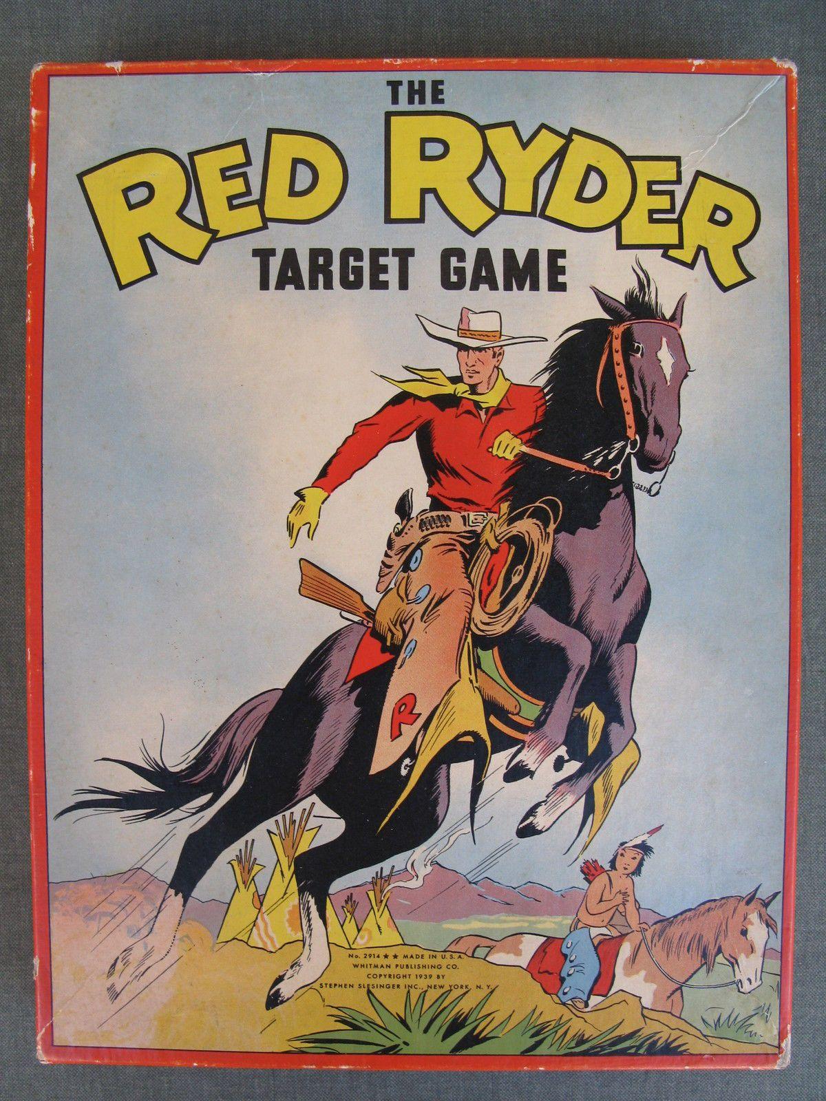 Antique Red Ryder Target Game 1939 Whitman Pub eBay
