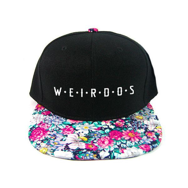 8ae2fcd6ab3 Radisrad Weirdos Spaced Snapback Hat in Fresh ( 25) ❤ liked on Polyvore  featuring mens