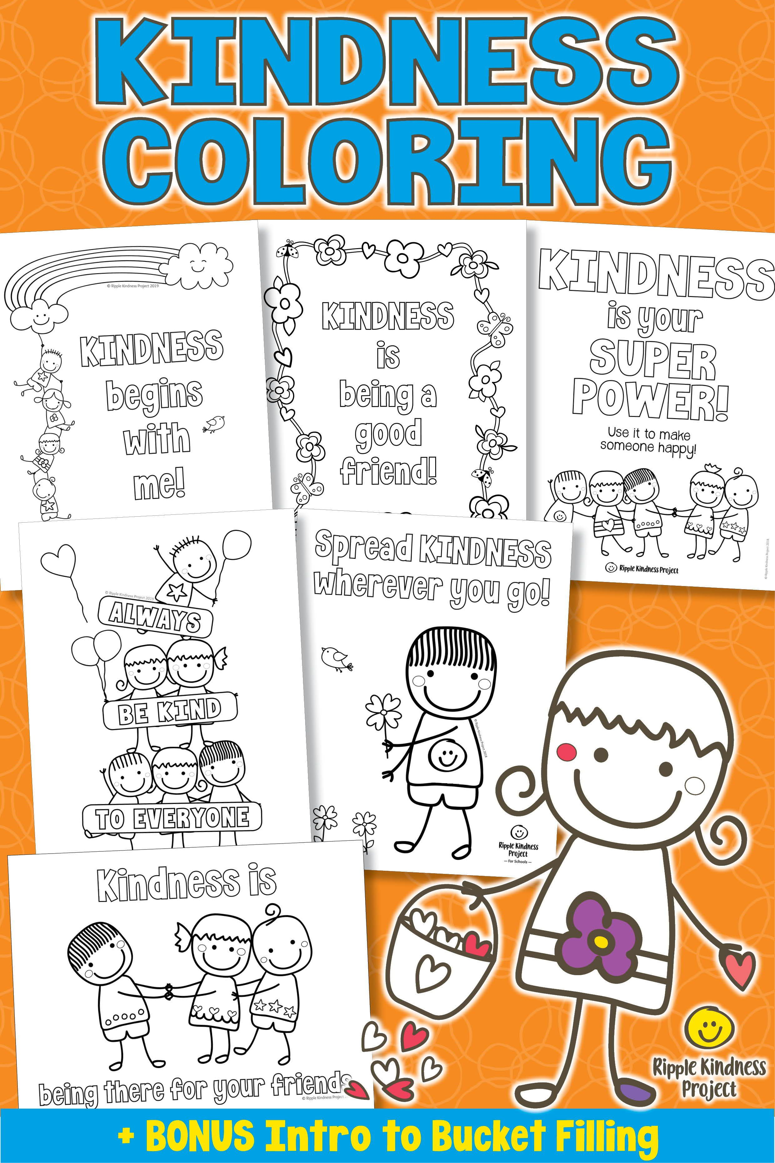 Kindness Coloring Pages Mindfulness Activity Kindness Activities Mindfulness Activities Kindness Lessons