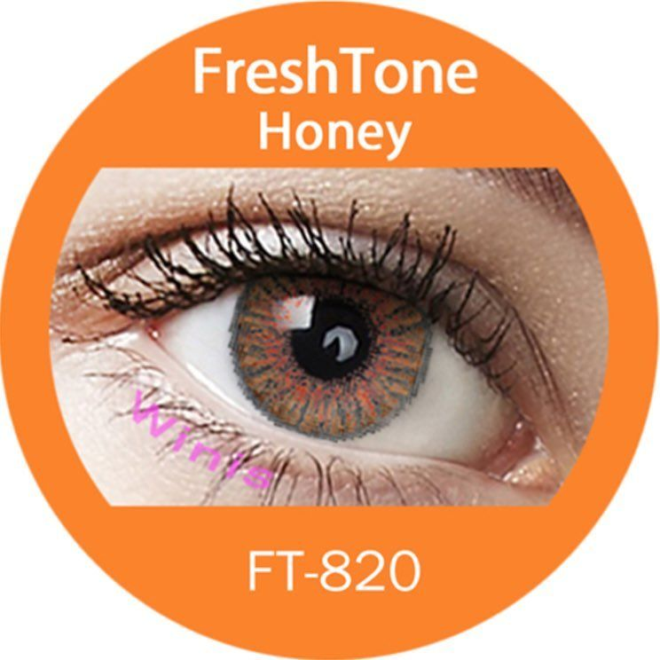 Freshtone Honey Color Contact Lenses Case Included Worldwide Shipping Free In The