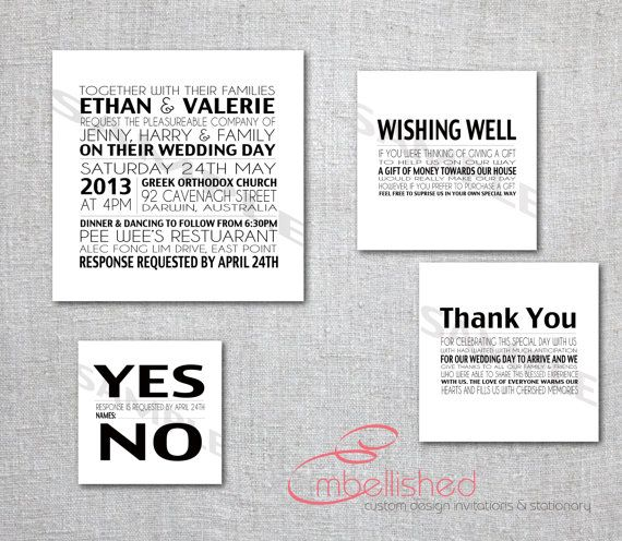 Modern Wedding Invite Wording: Like The Layout And The Gift Registry Wording. Also Like