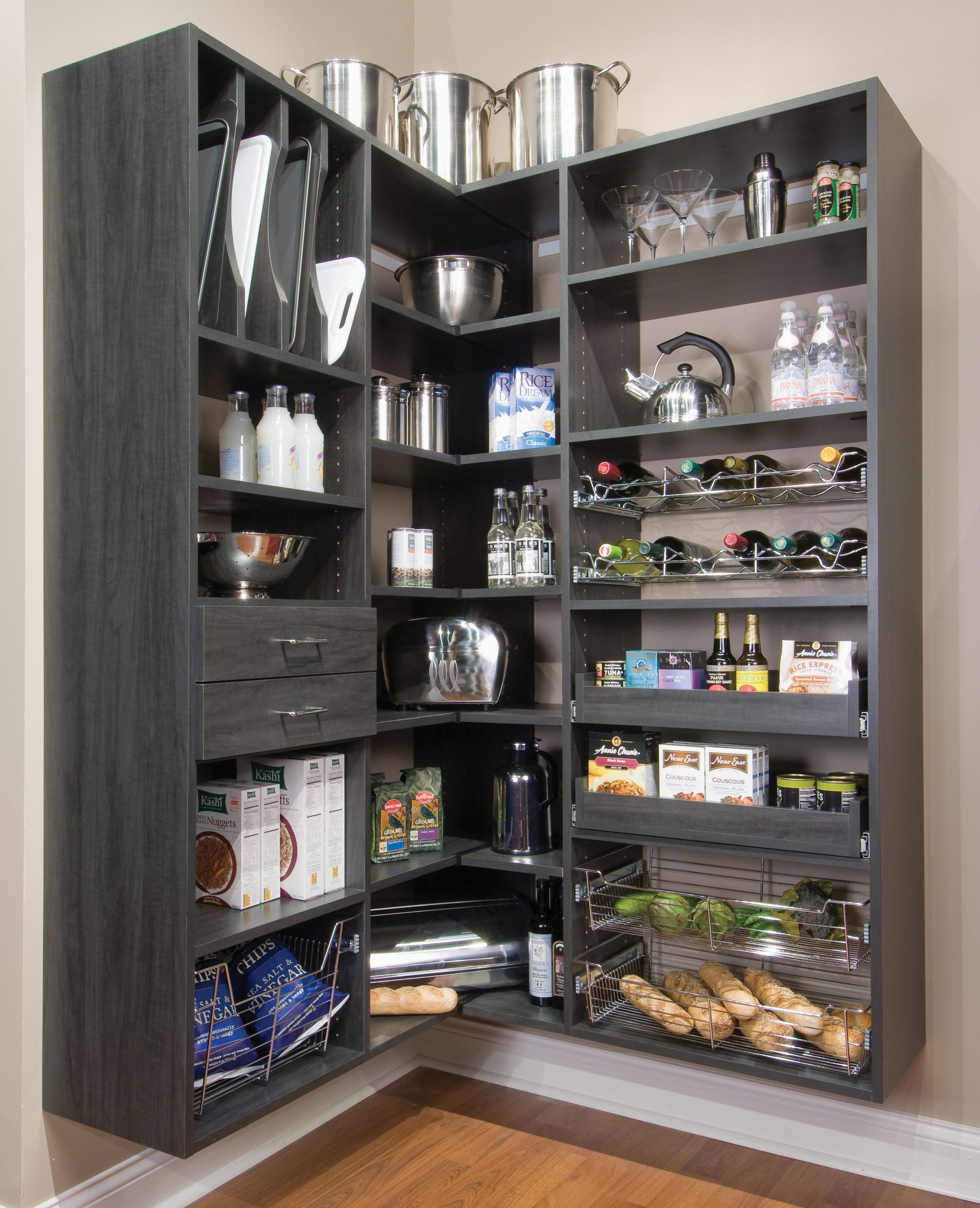 Black Kitchen Pantry Storage Theydesign